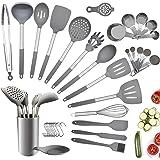 Charlemain Utensili Cucina Silicone, 35 Pezzi Set Utensili Cucina Silicone Antiaderente, Mestoli Cucina Silicone Senza BPA, M