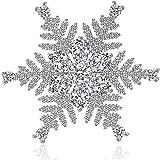 ZSCRL Accessori di Abbigliamento di Alta qualità, Forma Irregolare di Fiocchi di Neve, Spilla Semplice di Zircon AAA
