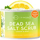 O Naturals Exfoliating Lemon Oil ملح البحر الميت مقشر للوجه والجسم. تعمل الألوان المضادة للسيلوليت على علاج البشرة الدهنية وح