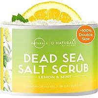 Gommage Exfoliant Naturel pour Visage Corps et Pieds au Sel de la Mer Morte Huiles Essentielles de Citron Anti Cellulite…