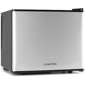 Klarstein • Geheimversteck • Minibar • Mini-Kühlschrank • Getränkekühlschrank • A+ • 17 Liter • ca. 38,5 x 33,5 x 41,5 cm (BxHxT) • niedriges Betriebsgeräusch • 38 dB • herausnehmbarer Regaleinschub • stufenloser Temperaturregler • platzsparend • silber