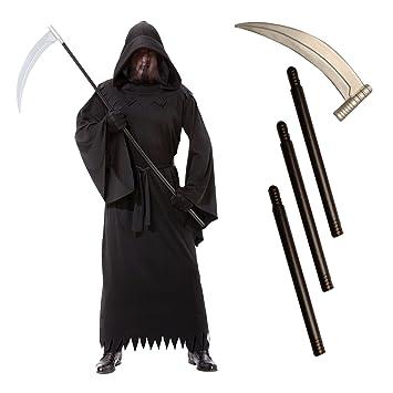 adults grim reaper death robe halloween fancy dress costume scythe men medium - Halloween Costume Death