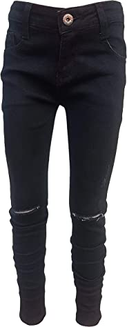 familientrends Mädchen Kinder Hose Jeans schwarz Risse Skinny Destroyed Taillengummi 104-158