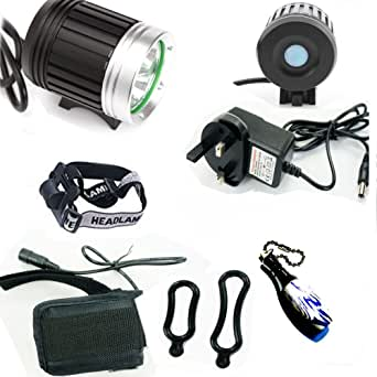 HawksTech CREE XML 3x T6 LED 4200Lm Cycle Bicycle Bike Head Light Headlamp Torch Charger