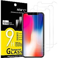 NEW'C 3 Pezzi, Vetro Temperato Compatibile con iPhone 11 PRO e iPhone X e iPhone XS, Pellicola Prottetiva Anti Graffio…