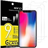 """NEW'C Lot de 3, Verre Trempé Compatible avec iPhone 11 Pro et iPhone X et iPhone XS (5.8""""), Film Protection écran sans Bulles"""