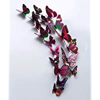 Rangoli Plastic Magnet (13 x 15 cm, Purple)