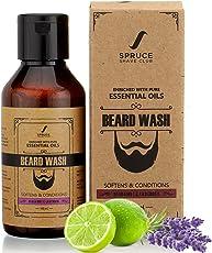Spruce Shave Club Beard Wash - Enriched with Essentials Oils & Aloe Vera - 100ml (Bergamot & Lavender)