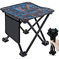 Hiking for Army Picnic Lawn Camp Garden for Kids Teens with a Storage Bag Mini Aluminum Camping Stool Portable Fishing Stool Fishing DXIA Portable Folding Stool Outdoor Backpacking