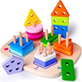 rolimate Giocattolo educativo in Legno per 3 4 5 Anni Ragazzo Ragazza Ordinamento e accatastamento Giocattoli Montessori…