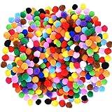 Caydo - 1200pompons assortis pour des décorations de bricolage, créatives et artisanaux - 1 cm