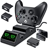 BEBONCOOL Charging Station for Xbox One Controller Dual Charger, with 2x1200mAh Rechargeable Xbox One Battery Charger Chargin