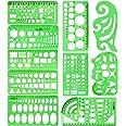 10 stycken som mäter plastmallar Cirkelmall Geometriska ritmallar Byggnadssmycken Design Formwork Linjaler Klargröna uppsättn