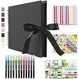 Vienrose Album Photo Scrapbooking 10x15 Livre Fait à La Main DIY Album 80 Pages Cadeaux pour Bebe Valentin Anniversaire Enfan