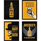 Chaka Chaundh –Suitable Bar quotes frame - Whisky quotes frames - Bar poster for wall with frame, whisky quotes framed poster