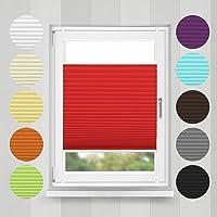 Home-Vision Plisse-Rollo Easyfix Montage ohne Bohren Blickdicht Plissee Jalousie mit Klemmfix | Sonnenschutzrollo...