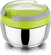 Honest Lunch Box Double Layered Tiffin Box 100% Stainless Steel Box, Size - 900 ml, Color - Green