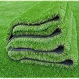 KUBER INDUSTRIES KUBMART004824 GrassCT33 High Density Artificial Grass Carpet Mat, Green, 193x92x1 cm