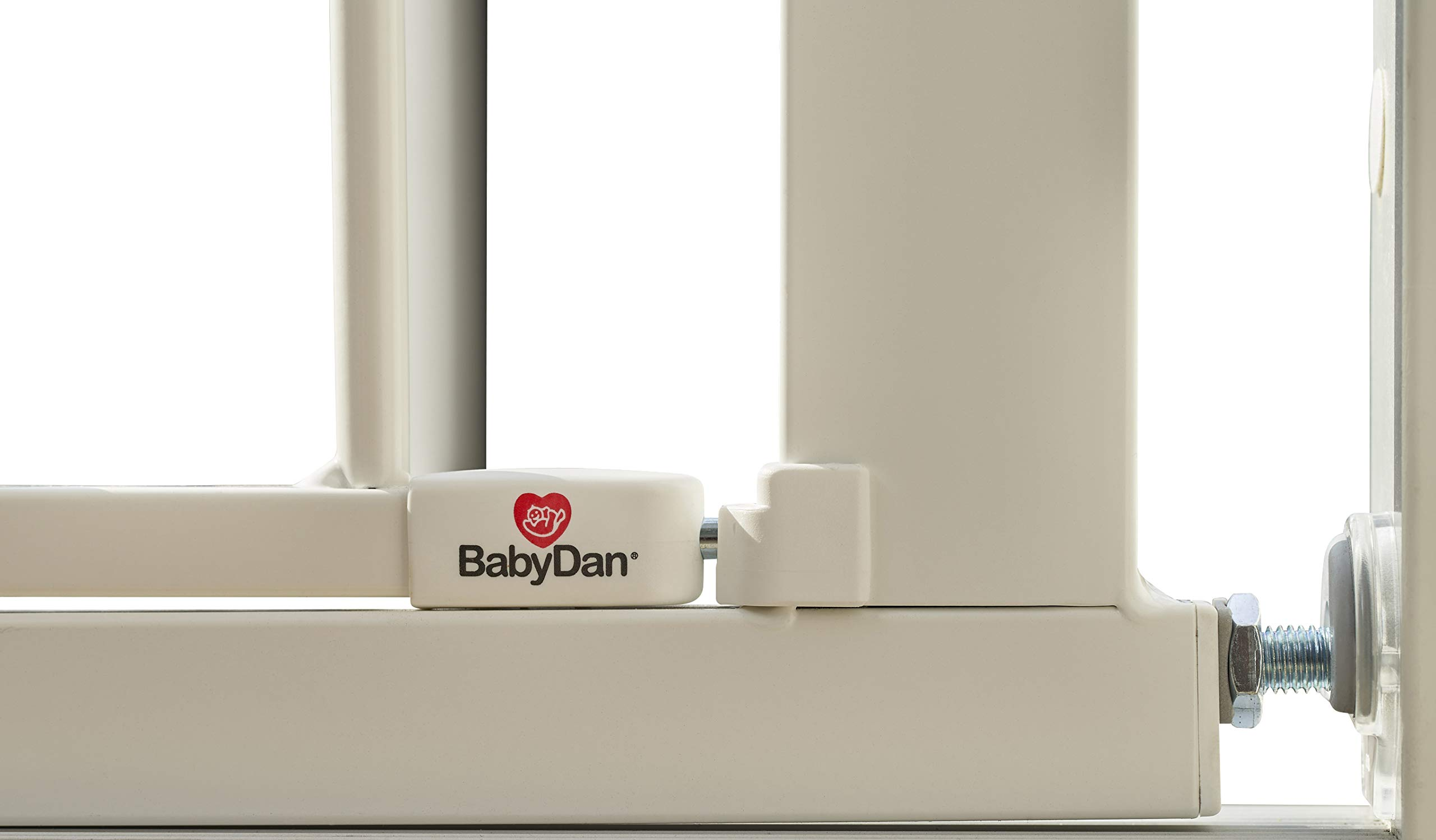 BabyDan Perfect Close Extra Wide Safety Gate - 77.3cm-83.5cm BabyDan Extra wide pressure fit safety gate. standard gate fits doorways 77.3-83.5cm. max width 110cm Features a unique slam shut or silent close handle which locks closed automatically Extendable up to 110cm with extra exetsnions 5