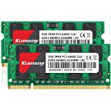 Kuesuny 4GB KIT (2X2GB) DDR2 800MHz Sodimm Ram PC2-6400 PC2-6400S 1.8V CL6 200 Pin 2RX8 Dual Rank Non-ECC Unbuffered Notebook