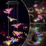 Benooa Solaire Carillons éoliens Boule de Cristal Coloré Carillons éoliens Mobiles Lumières Solaires Portable étanche Extérie
