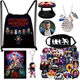 Double Stranger THlNGS Merchandise, 1 affiche, 50 autocollants, 2 porte-clés, 2 broches, 1 bracelet, 1 collier + 1 porte-anne