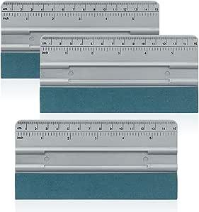Winjun 3 Stück Folienrakel Rakel Set Mit Lineal Car Wrapping Werkzeug Für Folie Verkleben Auto