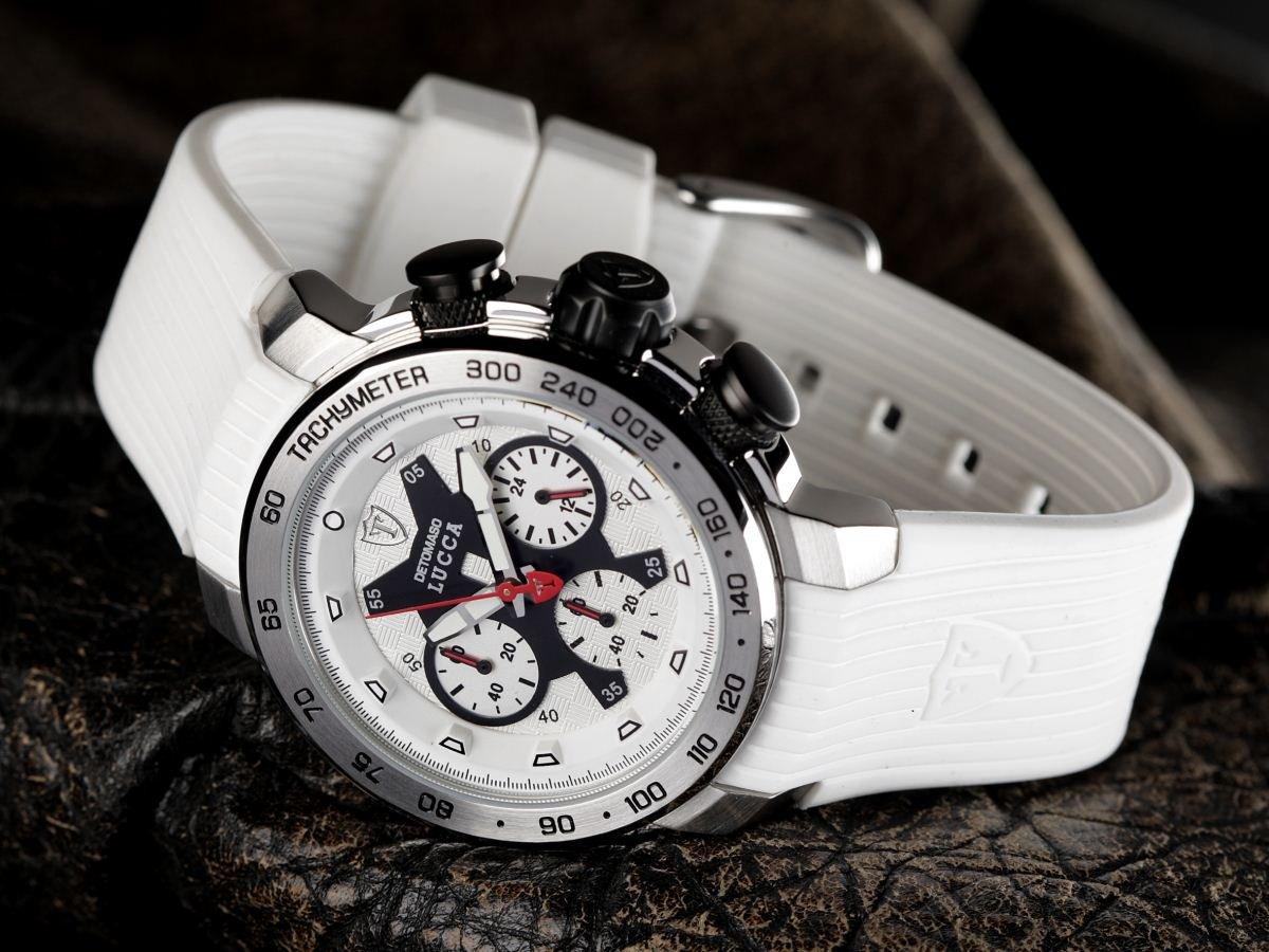 DeTomaso Lucca Dt1017 – Reloj de Caballero de Cuarzo, Correa de Silicona