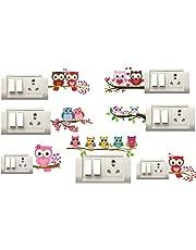 Sticker Studio Tree OWL Switch Board Sticker (Set of 7)