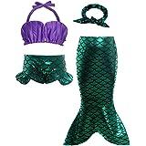 AmzBarley Sirena Traje Baño Bikini Set Niña Princesa Sirenita Bañador Disfraz Verano Niños