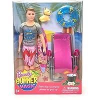 DreamZcatcher Doll Ken On-The-Go Beach Summer Magic | Accessories Doll Set