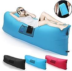 Magicpeony Aufblasbare Liege Couch mit Tragetasche Ultraleichte Tragbarer Outdoor Lazy Air Sofa Schnell Aufgebl