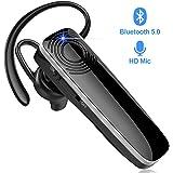 New Bee Bluetooth Headset Handy Ultraleichte kabellose In Ear Bluetooth Headset mit Stereo-Sound Freisprecheinrichtung für iPhone, iPad, Samsung, Huawei (Schwarz)