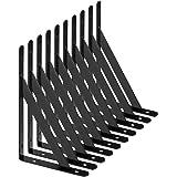 STARVAST Equerre Etagere Murale, 10 Pcs Supports Triangulaires de 90 Degrés en Acier, Équerres Étagères 200mm x 120mm, Suppor