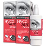 Hycosan Extra - Double Pack - Preservative Free Eye Drops - Sodium Hyaluronate 0.2% - for Treatment of Dry Eyes - 2x7…