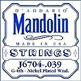 D'Addario J6704, cuerda individual de níquel para mandolina.039