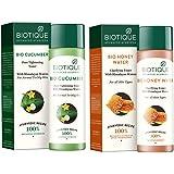 Biotique Bio Cucumber Pore Tightening Toner, 120ml And Biotique Bio Honey Water Clarifying Toner, 120ml