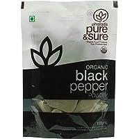 Pure & Sure Organic Powder, Black Pepper, 100g