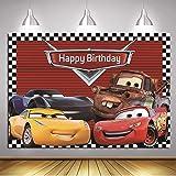 coche Fondo de la foto Ruta 66 fondo de carreras baby shower niño feliz cumpleaños fiesta decoración banner estudio de pie 7x