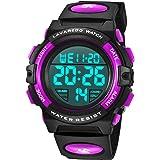 Orologi per bambini, ragazzi, ragazzi e adolescenti digitale, orologio sportivo multifunzione, impermeabile, digitale, con lu