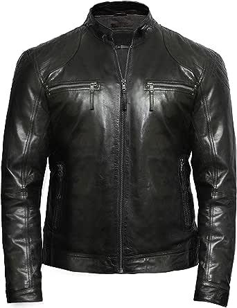 Brandslock Genuine Leather Jacket Mens | Real Sheepskin Leather Jacket for Men
