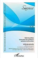 L'évaluation des politiques paritaires de formation: Article de recherche Revue Internationale de recherches en éducation et en formation des adultes Broché