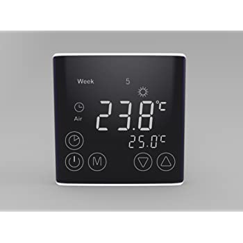 digital thermostat programmierbarer temperaturregler led screen fussbodenheizung heizk rper. Black Bedroom Furniture Sets. Home Design Ideas