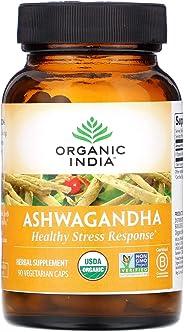 Organic India Ashwagandha Healthy Stress Response Supplement, 90 Capsules