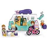 Mymy City- Family Van, Caravana con Accesorios niñas a Partir de 3 años (Famosa 700015598)