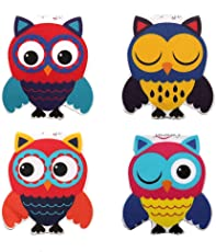 Heartzy Cute Owl Magnetic Bookmark Combo Of 4