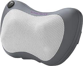 VITALmaxx 03775 Shiatsu Massagegerät | Massagekissen mit Wärmefunktion | Shiatsu Nacken Massage Schulter Bein | Muskelentspannung | Mit Befestigungsband | 12 V