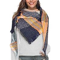 Yuson Girl Sciarpa Donna Inverno, donna inverno scialle maglione cappotto Girl grandi Tartan Wrap Maglia Scialle Inverno…