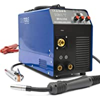 MIG-250 Inverter Schweißgerät MIG MAG - Schutzgas Schweissgerät mit 250 Ampere, Fülldraht und Elektroden geeignet mit…