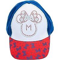 Disney Minnie Mouse cap, Baseball cap 100% Cotone con Strass e Motivo per Bambine